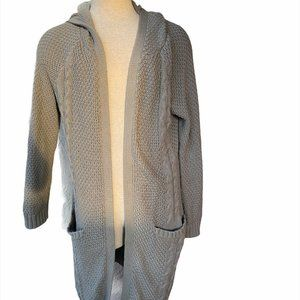 Joie Long Cardigan Open Front Chunky Knit